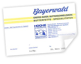 Hoche chlesterinreduzierte Butter 1998